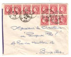 PR6249/ TP Marianne 1frs (10) S/L.c.Paris XIII Av D'Italie 1940 V.BXL Pourquoi Pas ? - 1921-1960: Periodo Moderno