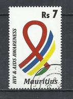 MAURITIUS 2011 -  HIV AND AIDS AWARENESS -  POSTALLY USED OBLITERE GESTEMPELT USADO - Maurice (1968-...)