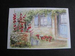 CPM ART - PEINTURE - MAISON ET PUITS - AQUARELLE ORIGINALE DE D LEBEAU - Peintures & Tableaux