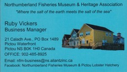 Northmberland Fisheries Museum, Pictou NS (VC527) - Visiting Cards
