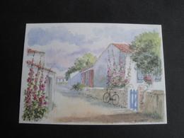 CPM ART - PEINTURE - RUELLE - AQUARELLE ORIGINALE DE D LEBEAU - Peintures & Tableaux