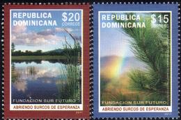 DOMINICAN FOUNDATION SUR FUTURO Sc 1499-1500 MNH 2011 - Dominikanische Rep.