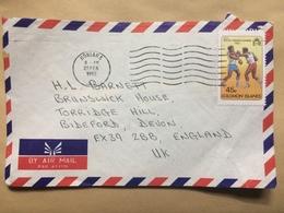 SOLOMON ISLANDS 1982 Air Mail Cover Honiara To Devon England - Solomon Islands (1978-...)