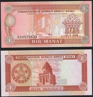 Turkmenistan P 1 - 1 Manat 1993 - UNC - Turkmenistan