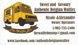 The Waffle Bus, NS (VC524) - Visiting Cards