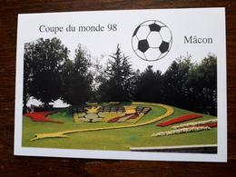 Macon.La Coupe Du Monde De Foot à Macon.Décoration Florale Réalisée En Gare De Macon.Tirage Limité à150 Ex.Ex N 14 - Macon