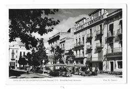 Cpsm. ESPAGNE - SAN FELIU DE GUIXOLS (Costa Brava) Rambla José Antonio (Hôtel Les Noies)  N° 153 - Espagne