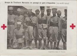 CPM     TIRAILLEURS MAROCAINS DE PASSAGE EN GARE D'ANGOULEME  16 - Croix-Rouge