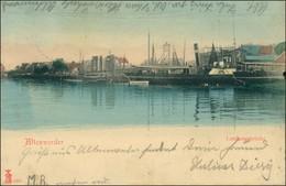 Ansichtskarte Harburg-Hamburg Altenwerder - Landungsbrücken 1907 - Harburg