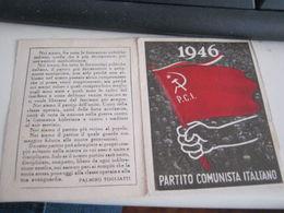 TESSERA PARTITO COMUNISTA ITALIANO 1946 - Vecchi Documenti