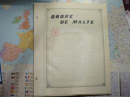 Collection De L'Ordre De Malte 1967-1968 Montée Sur Feuilles D'album - Autres - Europe