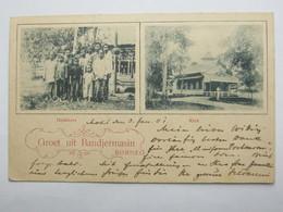 1901 , Briefkaart   A Duitsland - Niederländisch-Indien