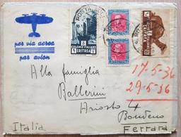 Eritrea 1936 Airmail With Content - Eritrea