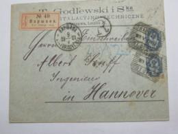 1901 , Brief Nach Deutschland , Einschreiben - 1857-1916 Imperium