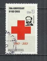 MAURITIUS 2013 - RED CROSS -  POSTALLY USED OBLITERE GESTEMPELT USADO - Maurice (1968-...)