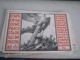 TESSERA CONFEDERAZIONE FASCISTA DEGLI INDUSTRIALI ANNO XVII - Old Paper