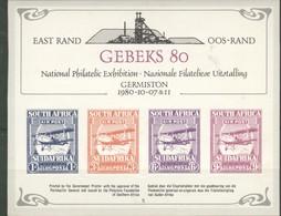 GEBEKS 80  National Philatelic Exhibition  Germinston 1980 10 07 - Afrique Du Sud (1961-...)