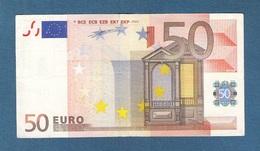 FRANCIA - 2002 - RARA BANCONOTA DA 50 EURO DUISENBERG SERIE U (L006F3) - CIRCOLATA - IN BUONE CONDIZIONI. - EURO