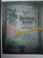 Lot 5 Banco Central Mexicano 100 £ Vert  + Coupons - Shareholdings