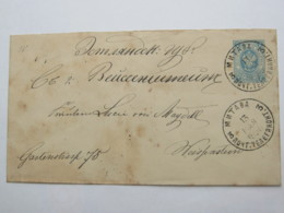 1880, Ganzsache Nach Deutschland - Briefe U. Dokumente