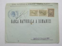 1916 ,  PLOESCI  , Firmenlochung, Perfin , Brief - Cartas De La Primera Guerra Mundial