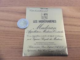 étiquette Vin «MADIRAN - LES MONTANIERES - Vignerie Royale Du Madiran - CROUSEILLES (64)» - Madiran