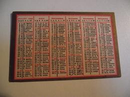 CALENDRIER , 1889, Carte Recto Verso - Kalenders