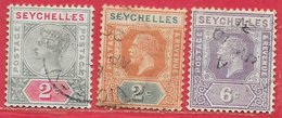Seychelles N°1B, 90, 96 1890-1928 O - Seychelles (...-1976)