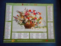 ALMANACH DU FACTEUR Double 2008 - Bouquets  De Fleurs - Calendriers