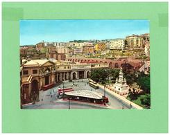 1960 GENOVA LA STAZIONE CON BUS D'EPOCA DALL'AEREO AFFRANCATA CON DUE DIV. FRANCOBOLLI VIAGGIATA X LA SVIZZERA - Genova (Genoa)