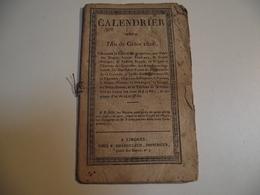 CALENDRIER , An De Grace, 1826, LIMOGES - Formato Piccolo : ...-1900