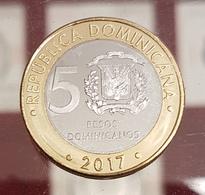 República Dominicana Dominican 5 Pesos 2017 Km New Bi-Metallic SC UNC - Dominicaine