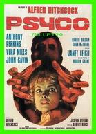 AFFICHES DE FILM - PSYCO, UN FILM D'ALFRED HITCHCOCK - SEDII - - Affiches Sur Carte