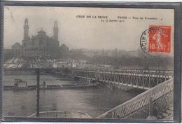 Carte Postale 75. Paris Inondations Pont Du Trocadéro  Très Beau Plan - Inondations De 1910