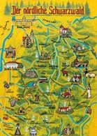 1 MAP Of Germany * 1 Ansichtskarte Mit Der Landkarte - Der Nördliche Schwarzwald * - Carte Geografiche