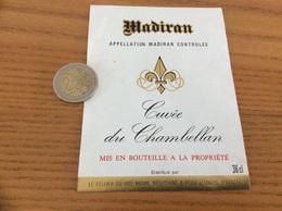étiquette Vin «MADIRAN - Cuvée Du Chambellan - LE CELLIER DU ROY - LEMBEYE (64)» - Madiran