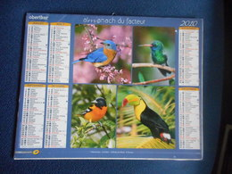 ALMANACH Du FACTEUR Double 2010 - Oiseaux - Calendriers
