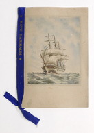 Collezionismo - Calendario Marina Militare 1949 Con Nastro Nave Garibaldi - RARO - Calendari
