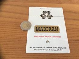 étiquette Vin «MADIRAN - GRANDS CHAIS - MORLAAS (64)» - Madiran