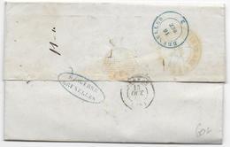 1845 - BELGIQUE - MARQUE De DEBOURSE De BRUXELLES Sur LETTRE De ANGERS REEXPEDIEE => PARIS - Postmark Collection