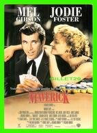 AFFICHES DE FILM - MAVERICK AVEC MEL GIBSON & JODIE FOSTER IN 1994 - GO-CARD - - Affiches Sur Carte