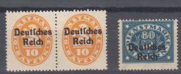 BAVIERA - BAYERN -  1920 - Lotto 3 Valori Nuovi MNH: Yvert 71 E Coppia Di 62. - Bavaria