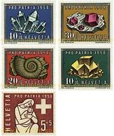 Ref. 91316 * MNH * - SWITZERLAND. 1958. PRO PATRIA. MINERALS AND FOSSILS . PRO PATRIA. MINERALES Y FOSILES - Switzerland
