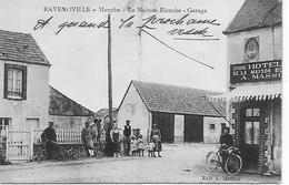 50 RAVENOVILLE LA MAISON BLANCHE  HOTEL  EPICERIE  A. MASSON   GARAGE Et Ses HABITANTS - France
