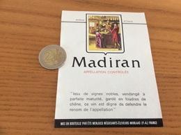 étiquette Vin «MADIRAN - ETS MENJUCQ - MORLAAS (64)» - Madiran