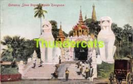CPA BURMA RANGOON ENTRANCE SHWE DAGON PAGODA - Myanmar (Burma)