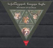 Georgia Georgien 2018 Mi. 719-22 Bl.81  Fauna Red Book Of Georgia - Georgien