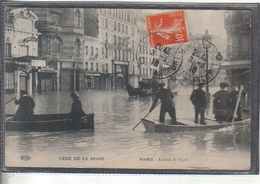 Carte Postale 75. Paris Inondations Rue De Lyon  Très Beau Plan - Inondations De 1910