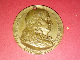 MÉDAILLE BRONZE ? PAR J.H. BERNARDIN DE SAINT PIERRE NE AU HAVRE En 1737 41 Mm POIDS 40 Gr. - Francia