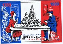 EURE Et LOIR - ILLIERS-COMBRAY - 4ème Salon 1989 - Dessin De Yannick MOURE - Bolsas Y Salón Para Coleccionistas